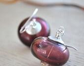 Purple Plumberry Glass Earrings