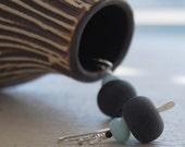 Black Sky Amazonite Earrings