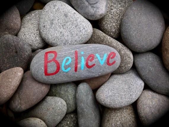 Believe Rock Art Print