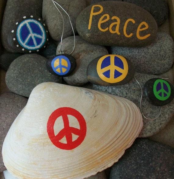 Set of Peace - Rock, magnets, shell, ornaments & BONUS: bag of Peace Rocks