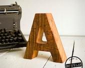 Reclaimed Wood Letter Decor For Your Desktop - Natural - Pick Your Letter