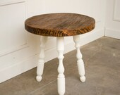 William and Mary Reclaimed Wood Round Side Table