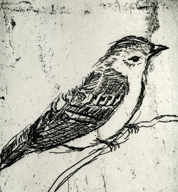 Bird Decor - Little Yellow Bird Art Print