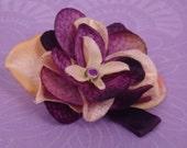 Plum and Cream Hydrangea Clip