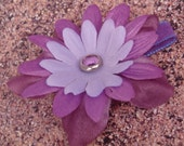 Purple Petals Alligator Clip