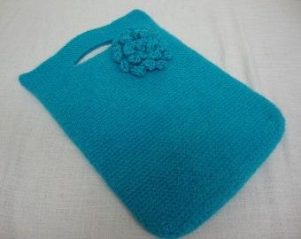 Mac Book Air cover - Aqua/Turquoise Felted Wool - Purse