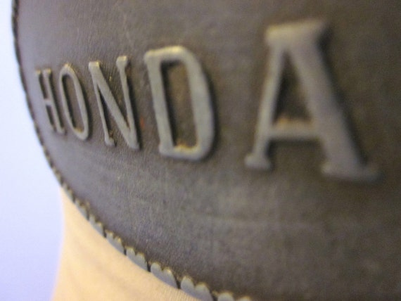 SALE Vintage Leather Honda Belt