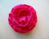 Ruffle Flower Pin Brooch in Pink Rose