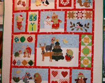 Critter Christmas Quilt Kit with Book