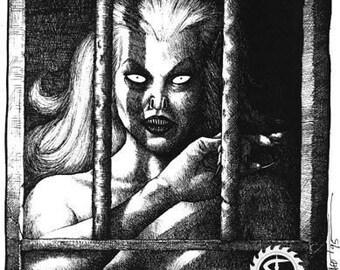 Live Girls Original Vampire Art