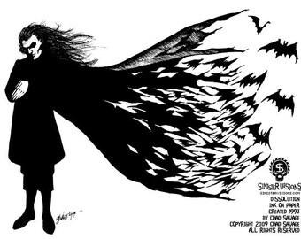 Dissolution 1993 Original Vampire Drawing