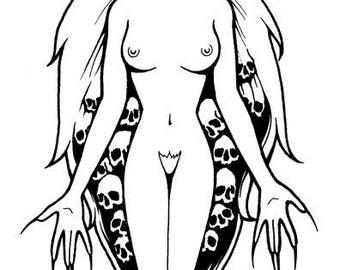 Lamia Original Vampire Drawing