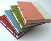 Weekly Eco Planner with Address Book - Coral and Vines - Coptic Bound - READY TO SHIP