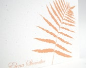 Personalized Stationery Set of 12 Eco Note Cards - CUSTOM COLOR - Woodland Series - Botanical Stationery - Swamp Fern