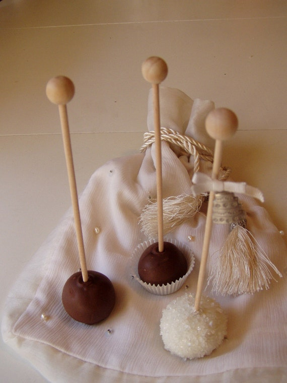 Wood Cake Pop or Candy Sticks - 25 quantity