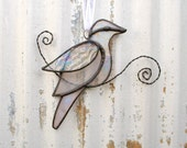 Iridescent Stained Glass Birdie Suncatcher