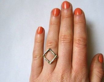 Beach Mesh Bronze & Silver Ring