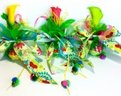 Lilly Cat Toy for cats Catnip ball Green Yellow Pink