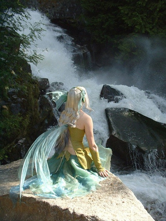 River Fairy Naiad Full Costume Ooak By Ancientgrove On Etsy