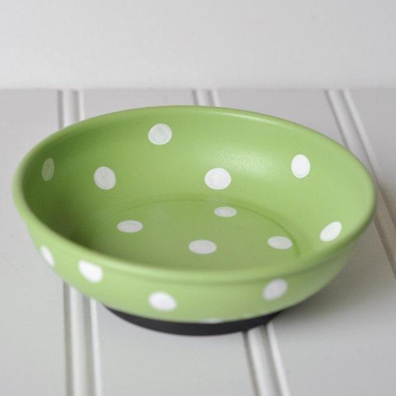 Celery Green w/White Dot Magnetic Pin Holder