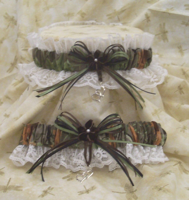 REALTREE CAMO W/white Wedding Garter By Kits257 On Etsy