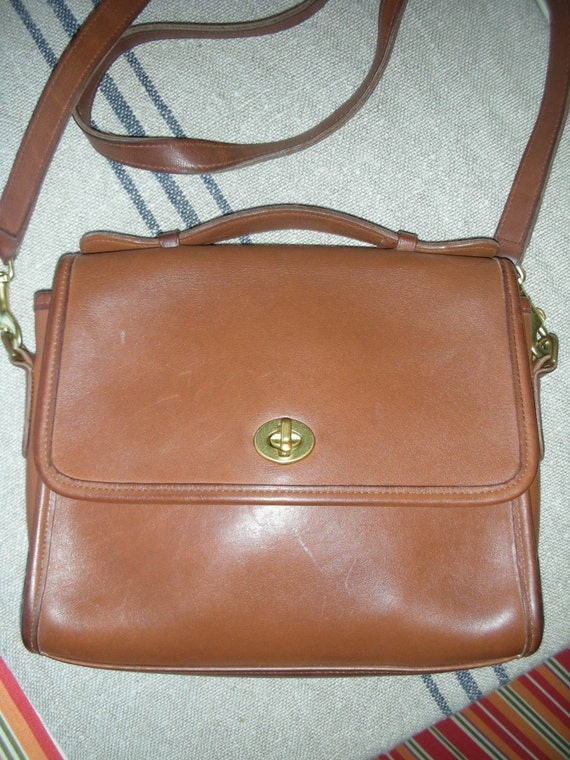 Tan Leather Coach Handbag