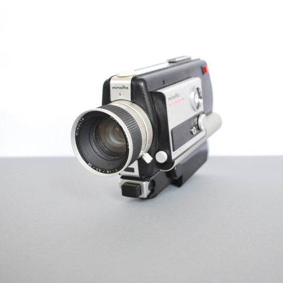 vintage minolta autopak 8 d4 super 8mm video camera. Black Bedroom Furniture Sets. Home Design Ideas