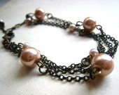 Handmade Multistrand Pearl Bracelet. Juliet