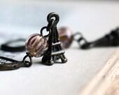 Handmade Romantic Earrings. Fullmoon over Paris