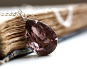 Amethyst Necklace. Vintage Amethyst Jewel Necklace. February Birthstone. Purple Jewel Necklace. Royal