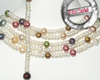 100 Inches Pearl Lariat Necklace