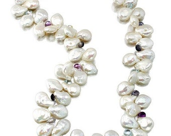 Lovely Freshwater Pearl Necklace with Semi Precious Stones