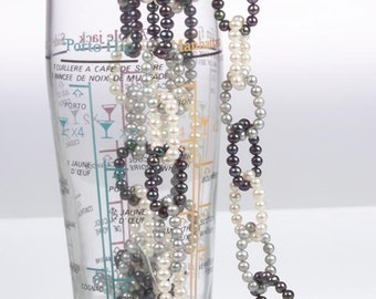 Black white and Silver Chain of Pearls TRENDY