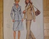 1971 Vintage Women's Suit Pattern - Simplicity 9837