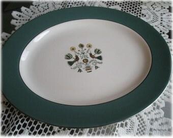 Homer Laughlin Cavalier Eggshell Persian Garden CV28 Large 14 Inch Oval Serving Platter Mid-Century