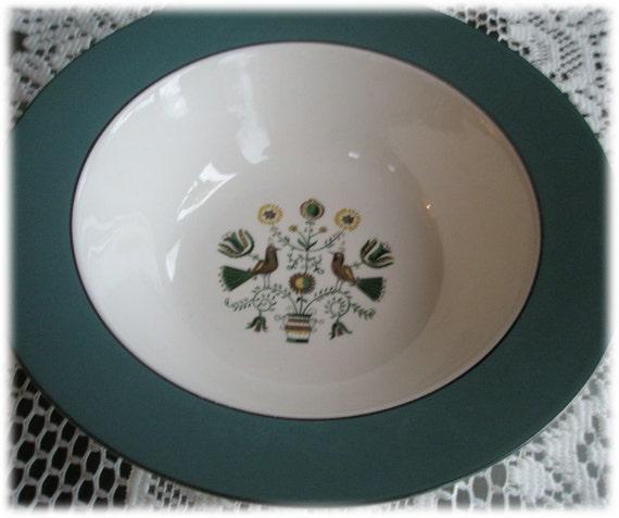 Vegetable Serving Bowl Homer Laughlin Cavalier Eggshell Persian Garden CV28