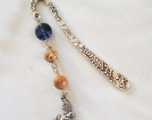 Bookmark Desert Lion by Lizardsplay - 3 inch bookmark, 2 and half inch beads and charm