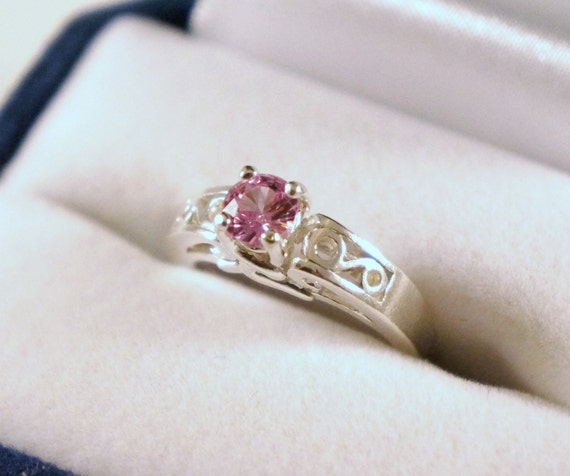 Pink Sapphire Pattern Ring