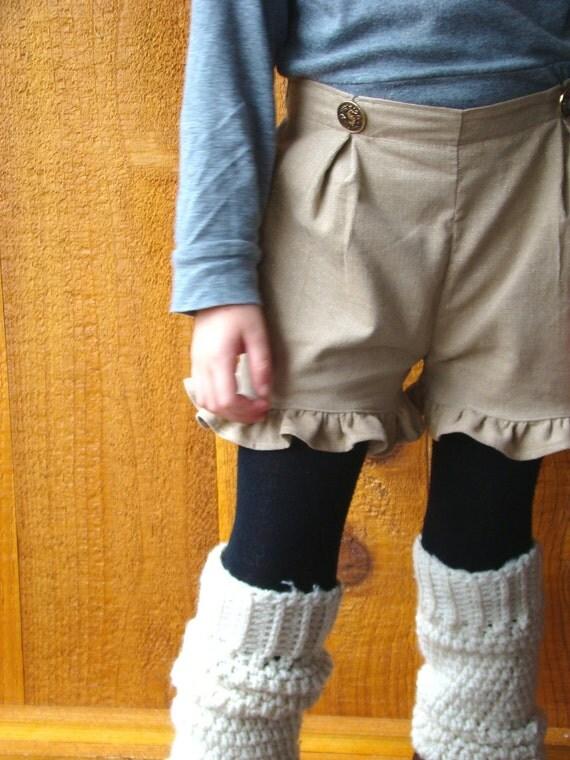 Macadamia Shortbread girl's sparkle ruffle shorts