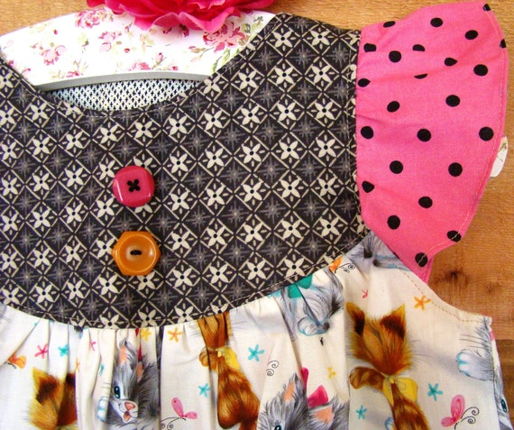 Sprinkle Cupcake girl's pinafore dress 2 3 or 4 5 as top
