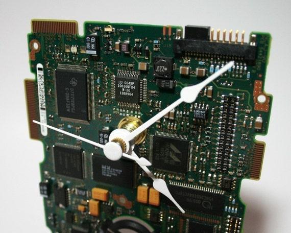 Hard Drive Circuit Board Desk Clock