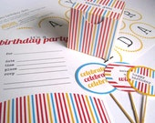 Instant Download PRINTABLE Primary Colors Birthday Package