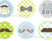 PRINTABLE Little Man Moustache Birthday Toppers