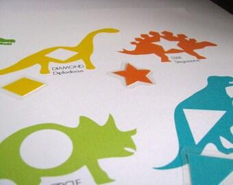 Small Dinosaur Shapes Printable