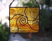 Swirling Sun Stained Glass Suncatcher