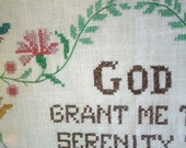 Large Cross Stitch Serenity Prayer