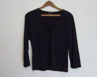vintage black jersey cardigan s