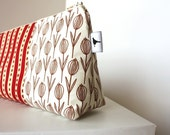 Cosmetic Makeup Bag - Tulips - Made to Order