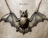 Spooky and Majestic Potbellied Bat Halloween Necklace