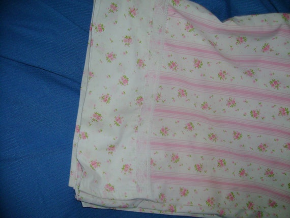 Sweet Pink Flowered Fabric   FREE SHIPPING